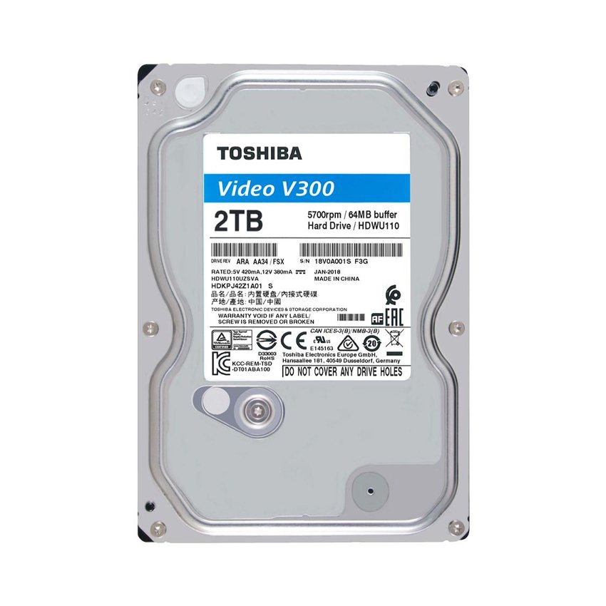Ổ CỨNG 2TB TOSHIBA VIDEO STREAMING