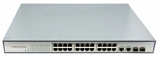 Switch 24 cổng PoE 1.000Mbps & 2 cổng Ethernet